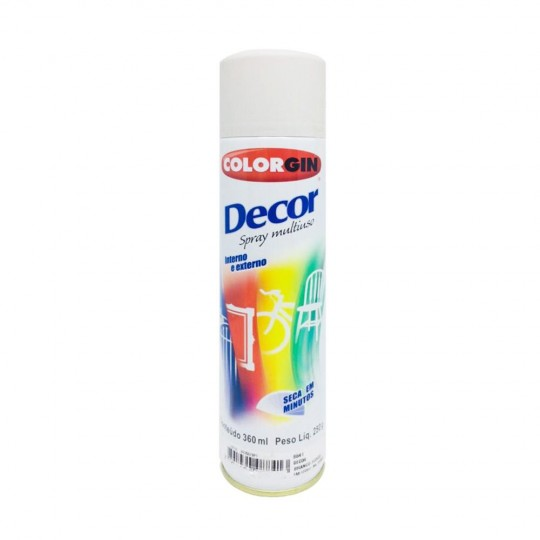 Spray Multiuso Decor Branco Fosco 360ml Colorgin