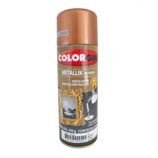Spray Multiuso Metallik Interior Cobre 360ml Colorgin